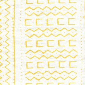 AC980-04 BEAU RIVAGE Yellow on Oyster Quadrille Fabric