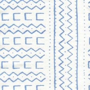 AC980-05 BEAU RIVAGE French Blue on Oyster Quadrille Fabric