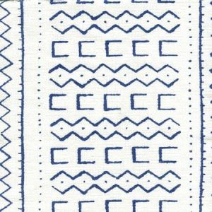 AC980-08 BEAU RIVAGE Navy on Oyster Quadrille Fabric