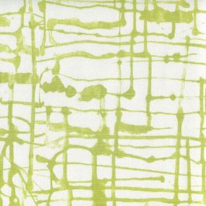 AC990-07 TWILL Palm Green on White Quadrille Fabric