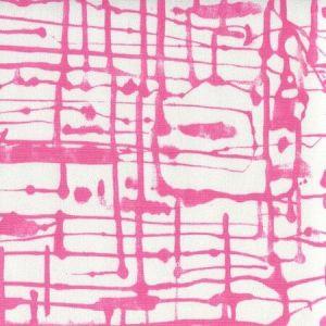 AC990-08 TWILL Magenta on White Quadrille Fabric