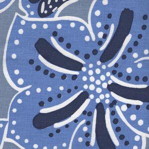 AC125-25 ALBANY MULTICOLOR Multi Blues on Denim Quadrille Fabric