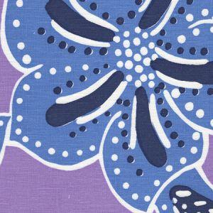 AC125-02 ALBANY MULTICOLOR Multi Blues on Lavender Quadrille Fabric