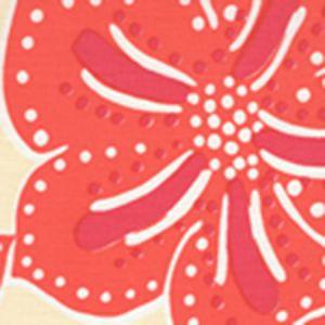 AC122-05 ALBANY TWO COLOR Magenta Orange on Cream Quadrille Fabric