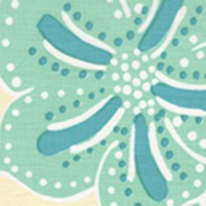 AC122-04 ALBANY TWO COLOR Multi Aquas on Cream Quadrille Fabric