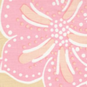 AC122-02 ALBANY TWO COLOR Multi Pinks on Cream Quadrille Fabric