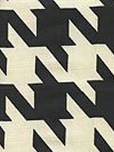 4070-09 AMES HOUNDSTOOTH Black on Tint Custom Only Quadrille Fabric