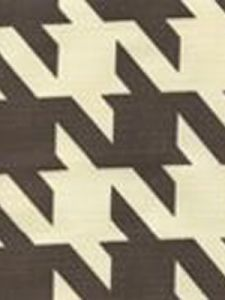 4070-05 AMES HOUNDSTOOTH Brown on Tint Custom Only Quadrille Fabric