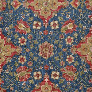 ANIKA Navy Magnolia Fabric