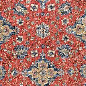 ANIKA Red Magnolia Fabric