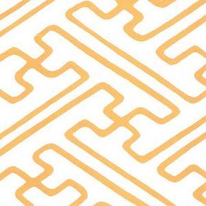 AP207-2127 SAYA GATA Taxi Cab Yellow On White Quadrille Wallpaper