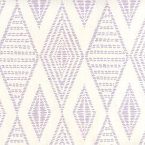 AP850-04 SAFARI EMBROIDERY Soft Lavender On Almost White Quadrille Wallpaper