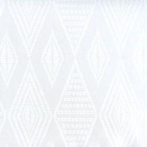 AP850-PV00 SAFARI EMBROIDERY White On Patent Vinyl Quadrille Wallpaper