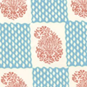 5090-05WP BANGALORE New Shrimp New Blue Quadrille Wallpaper