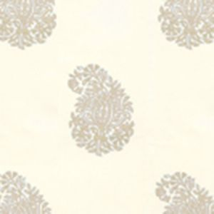 6040-06WP BANGALORE PAISLEY Taupe On Almost White Quadrille Wallpaper
