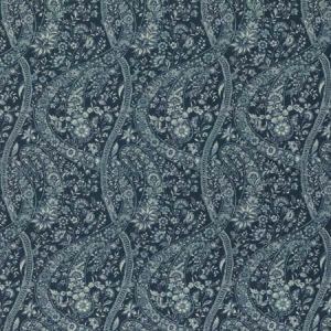 BP10835-3 BUKHARA PAISLEY Indigo GP & J Baker Fabric