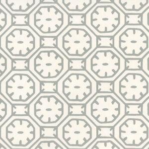 8150WP-02 CEYLON BATIK Gray On Almost White Quadrille Wallpaper