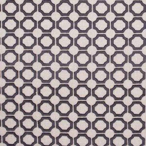 CIRCLE WITHIN Charcoal Carole Fabric