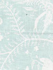 6780-01 CIREBON REVERSE Pale Aqua on White Quadrille Fabric