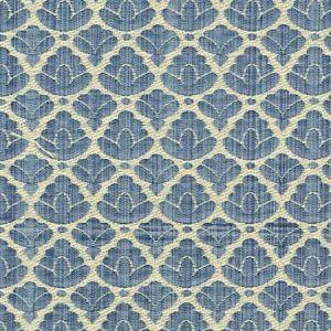 CL 0017 26714A RONDO FR Blue Linen Scalamandre Fabric