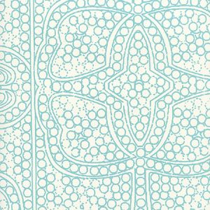CP1000W-03 PERSIA Turquoise On Almost White Quadrille Wallpaper