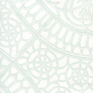 CP1030W-02 CAMELOT Pale Green On White Quadrille Wallpaper