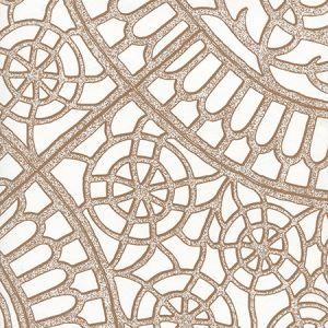 CP1030W-07 CAMELOT Cognac On White Quadrille Wallpaper