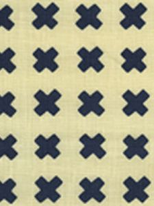 4130-18 CROSS CHECK Navy on Tint Quadrille Fabric