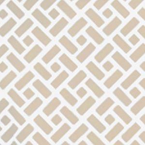 6990WP-02W EDO Beige On White Quadrille Wallpaper