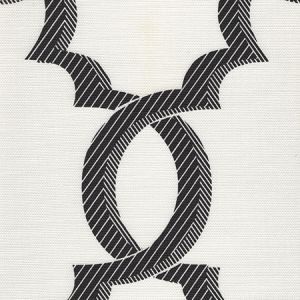 303700F-10 EL CID Black on Light Tint Quadrille Fabric