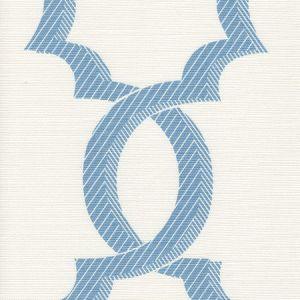 303700F-07 EL CID French Blue on Light Tint Quadrille Fabric