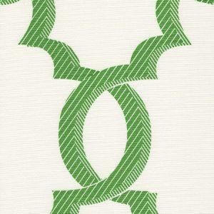 303700F-04 EL CID Kelly Green on Light Tint Quadrille Fabric