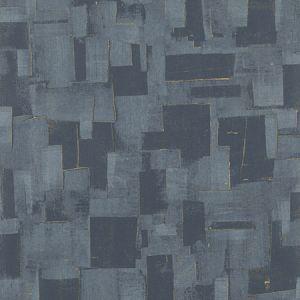 EW15018-680 CUBIST Indigo Threads Wallpaper
