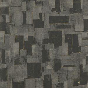 EW15018-985 CUBIST Charcoal Threads Wallpaper
