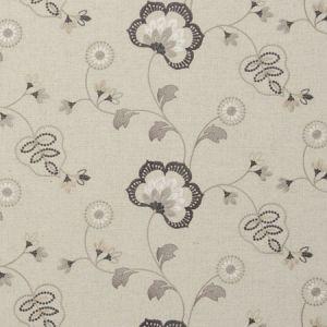 F0735/03 CHATSWORTH Charcoal Clarke & Clarke Fabric