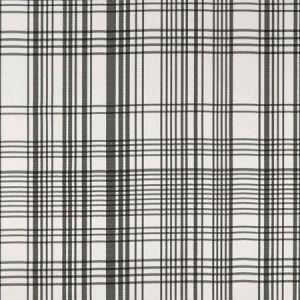 F0878/01 BW1006 Black White Clarke & Clarke Fabric