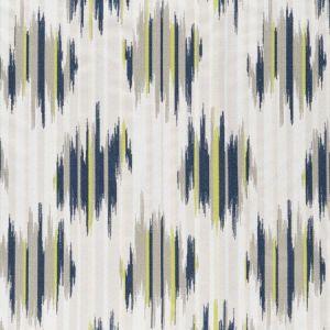 F0929/02 DILBAR Indigo Chartreuse Clarke & Clarke Fabric