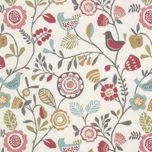 F0990/04 FOLKI Pastel Clarke & Clarke Fabric