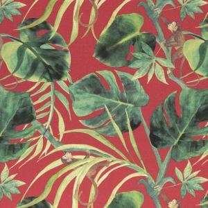 F0998/04 MONKEY BUSINESS Rouge Clarke & Clarke Fabric