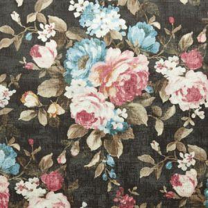F1002/01 EMELINE Charcoal Clarke & Clarke Fabric