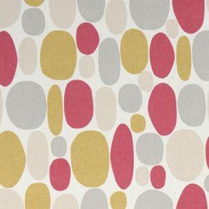 F1036/01 BUBBLE Coral Clarke & Clarke Fabric