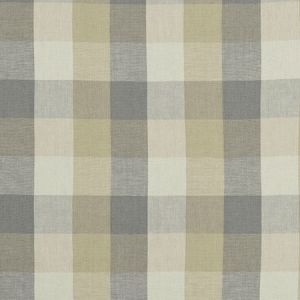 F1042/03 AUSTIN CHECK Natural Clarke & Clarke Fabric