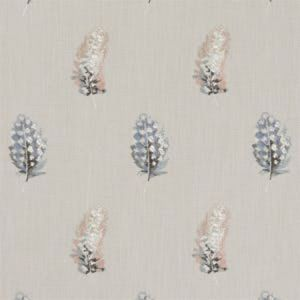 F1082/01 PLUMIS Blush Linen Clarke & Clarke Fabric