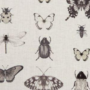 F1093/02 PAPILIO Charcoal Linen Clarke & Clarke Fabric