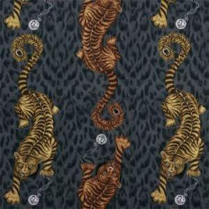 F1114/01 TIGRIS Flame Clarke & Clarke Fabric
