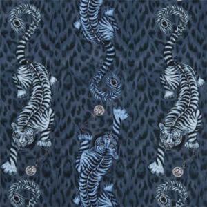 F1114/02 TIGRIS Navy Clarke & Clarke Fabric