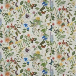 F1173/01 SECRET GARDEN Cream Clarke & Clarke Fabric