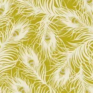 F1315/01 HARPER Chartreuse Clarke & Clarke Fabric