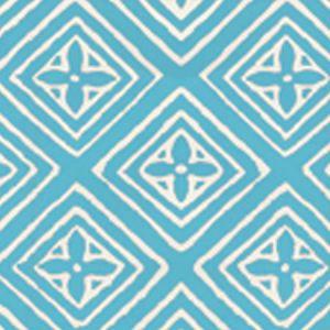 2490-09WP FIORENTINA Turquoise On Off White Quadrille Wallpaper