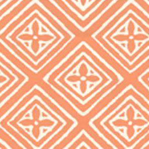 2490-49WP FIORENTINA Terracotta On Almost White Quadrille Wallpaper